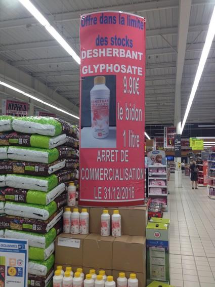 Aidez Super U à écouler ses stocks de glyphosate [14/09/16]