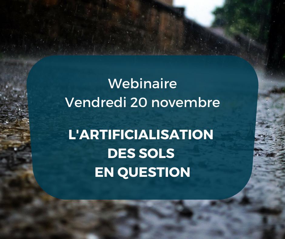 Participez à notre webinaire sur l'artificialisation des sols