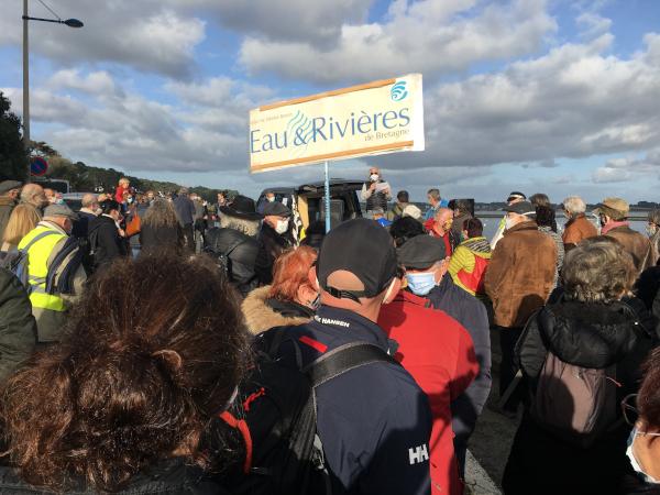 Les adhérents d'Eau & Rivières mobilisés en Morbihan
