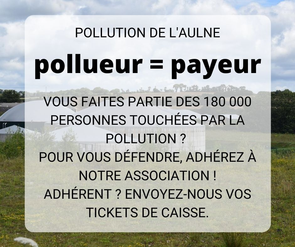Pollution de l'Aulne | Conservez vos tickets de caisse !