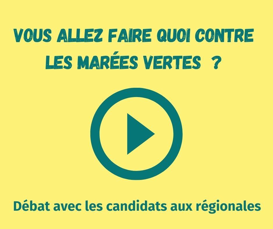 Les candidat.e.s aux régionales se positionnent sur les marées vertes