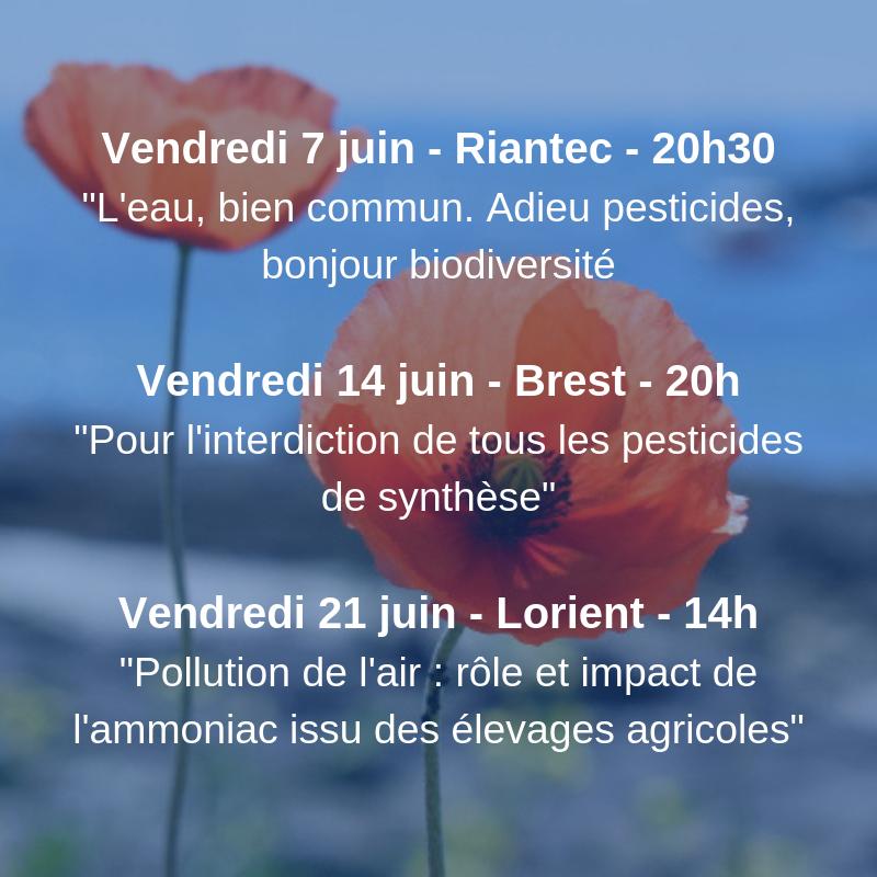 En juin, un cycle de trois conférences sur l'environnement