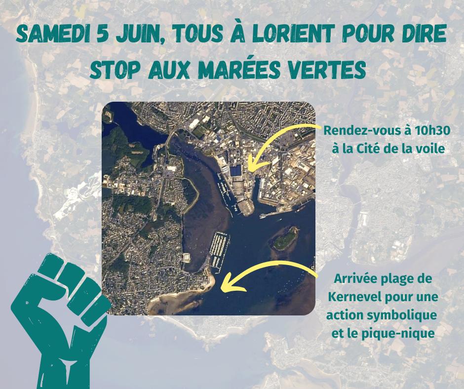 Manif | Contre les marées vertes, tous à Lorient samedi