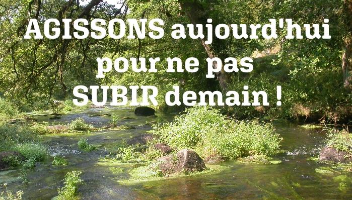 Consultation sur l'eau : AGISSONS aujourd'hui pour ne pas SUBIR demain !