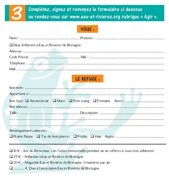 formulaire refuge grenouille